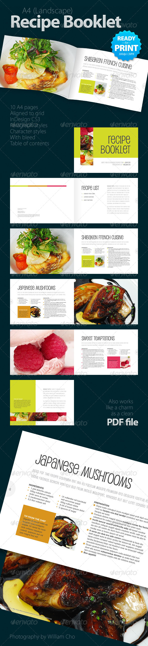 GraphicRiver Recipe Booklet 10 pages 144023