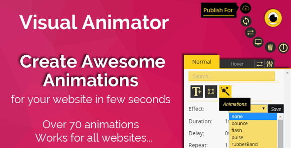 CodeCanyon Synoptic Visual Animator animate your website 11729005
