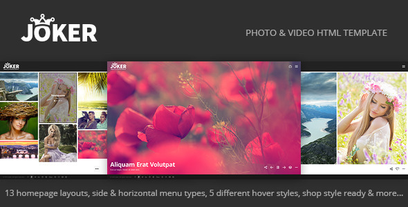 ThemeForest Joker Photo & Video Portfolio HTML Template 11672330