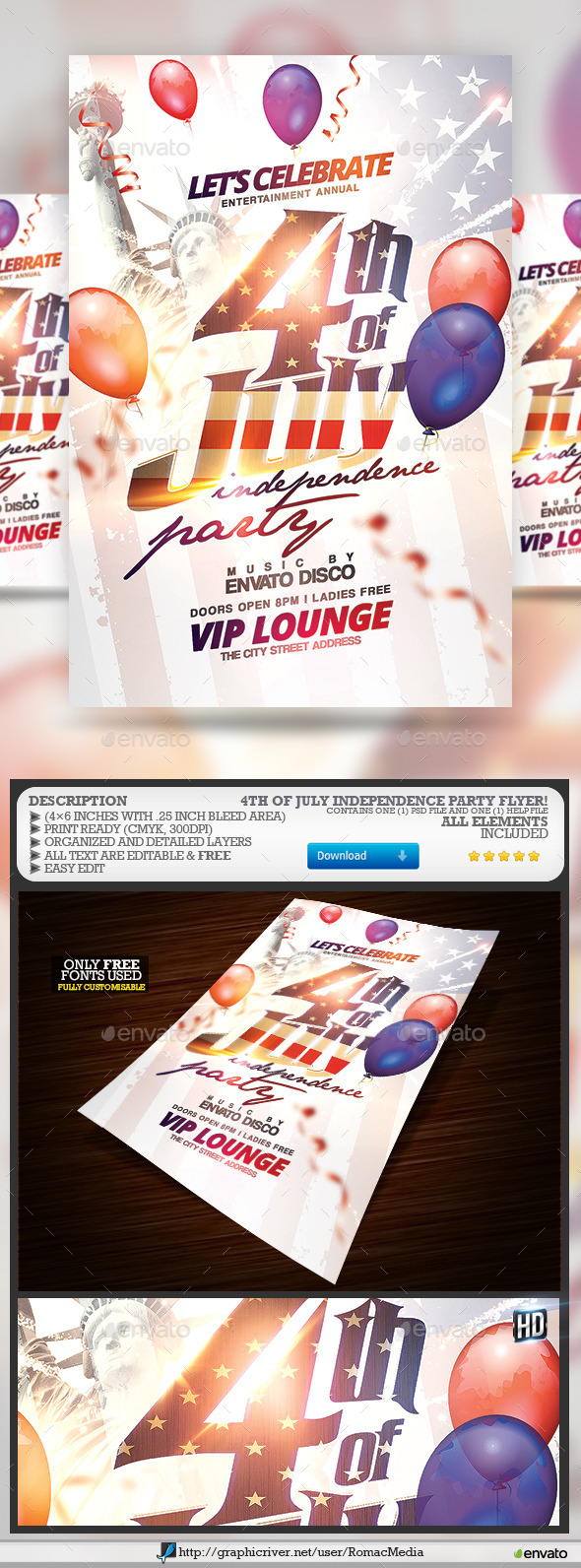 GraphicRiver 4th of July Independence Party 11729982