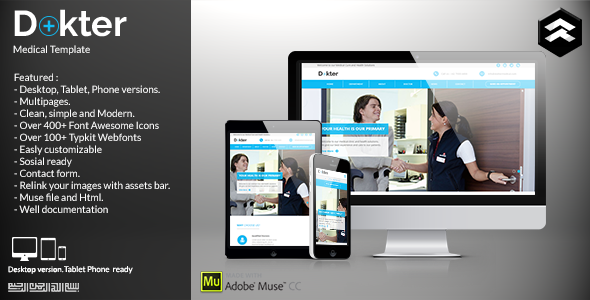 ThemeForest Dokter Medical Muse Template 11730087