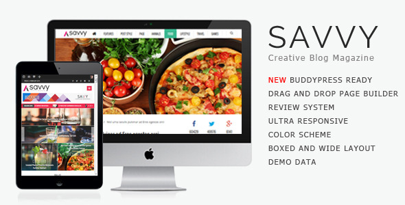 Savvy - Creative Wordpress Magazine Theme