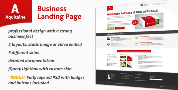 Aquitaine - Business Landing Page - Aquitaine Landing Page