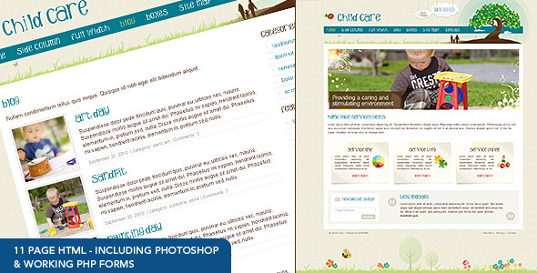 ThemeForest Child Care Creative 11 page HTML 144064