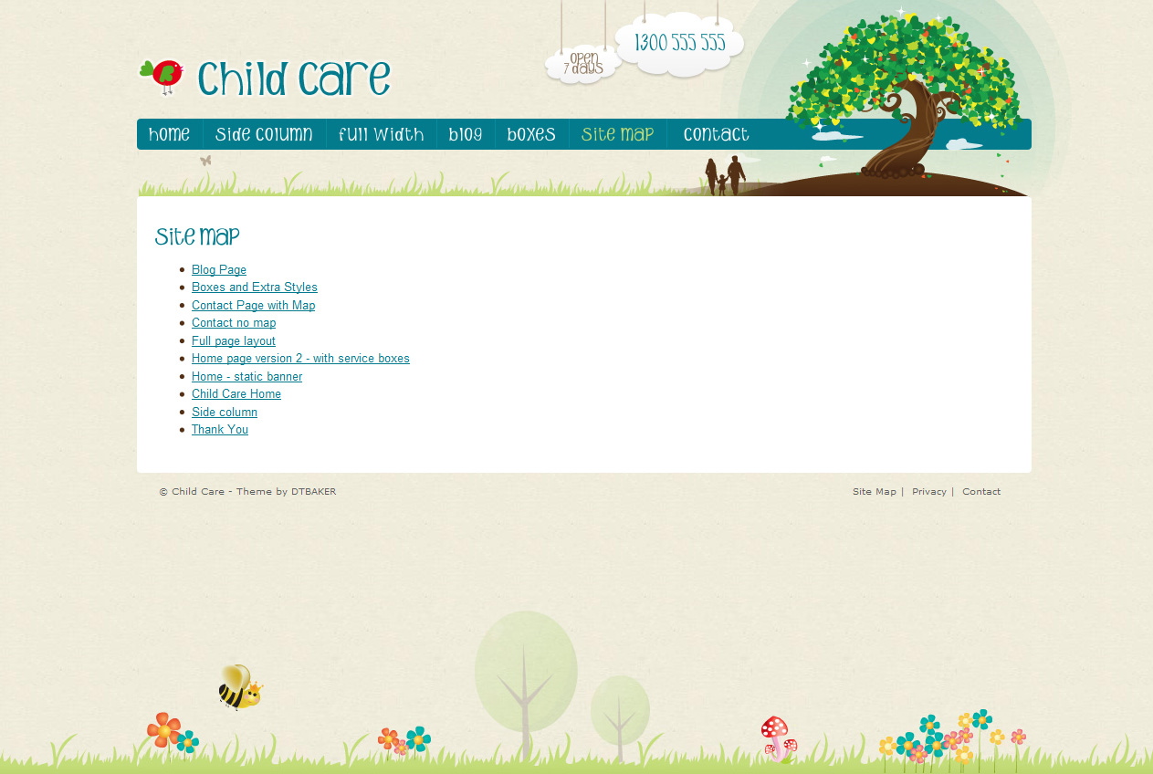 Child Care Creative - 11 page HTML