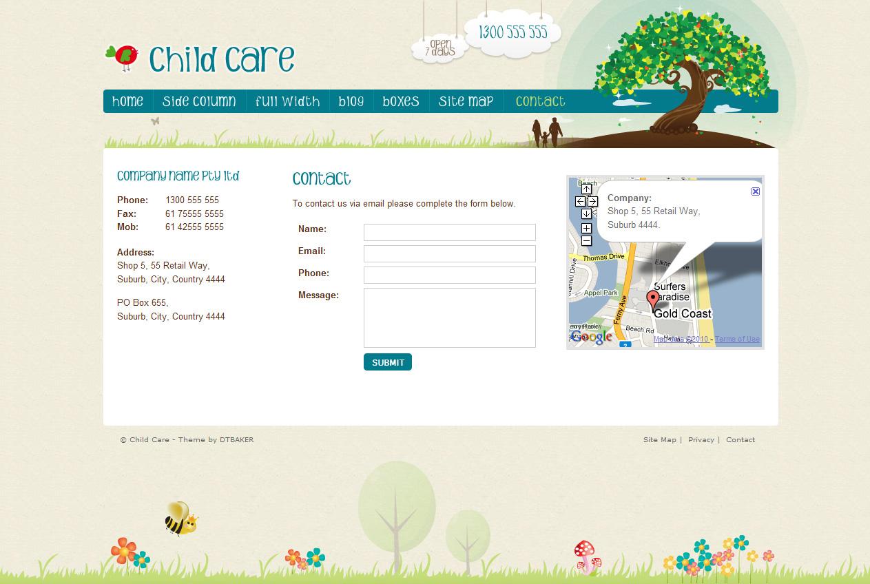 Child Care Creative - 11 page HTML