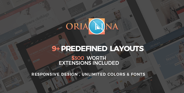 ThemeForest Orianna Magento Theme Multi Purpose 11732375