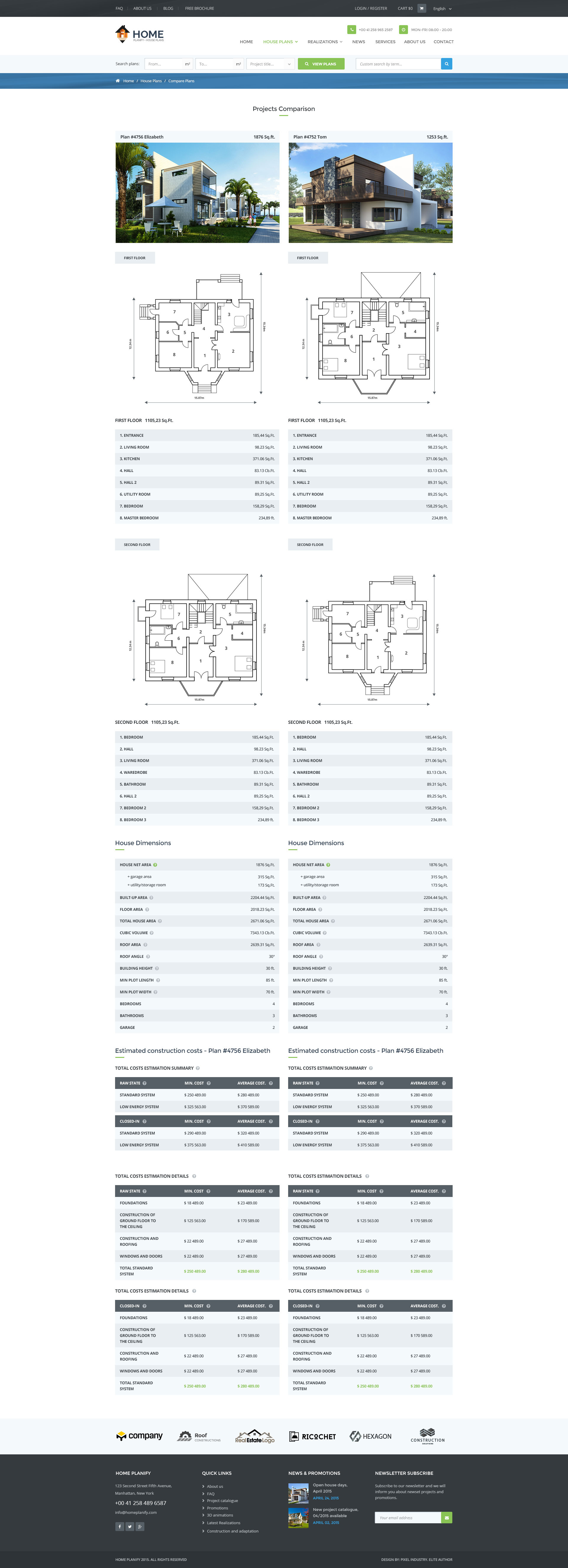 Home Planify - House Plans & onstruction PSD template by pixel ... - ^