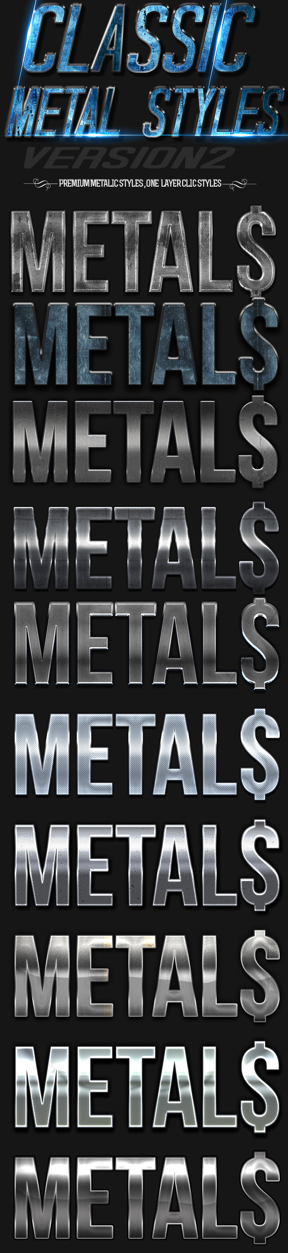 GraphicRiver Classic Metal Styles 2 11733740