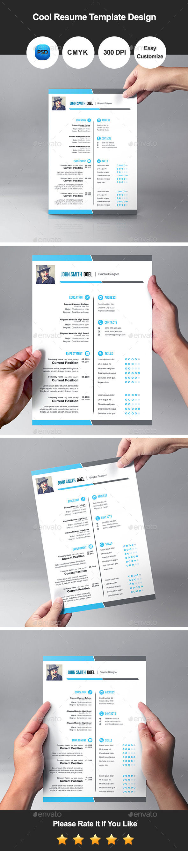 Premium Cool Resume Template Design