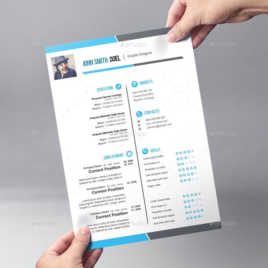 premium cool resume template design by graphicsdesignator image preview set 01 preview jpg