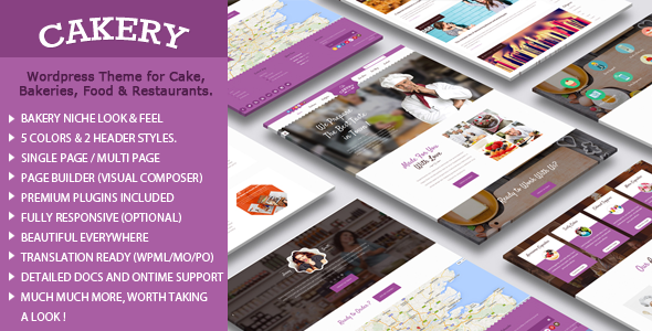 ThemeForest Cakery Cake WordPress Theme 11510420