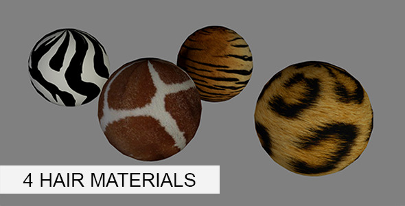 Hair Materials - 3DOcean Item for Sale