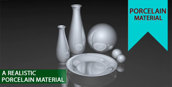 Porcelain Material - 3DOcean Item for Sale