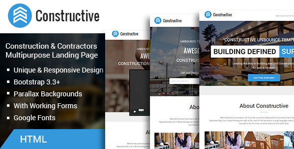 ThemeForest Constructive-Contractors Multipurpose Landing Page 11735549