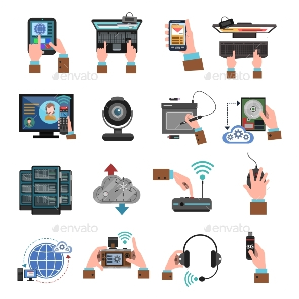 GraphicRiver It Devices Icons Flat 11735677