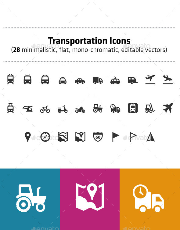 GraphicRiver Transportation icons pack 28 vector icons 11736106