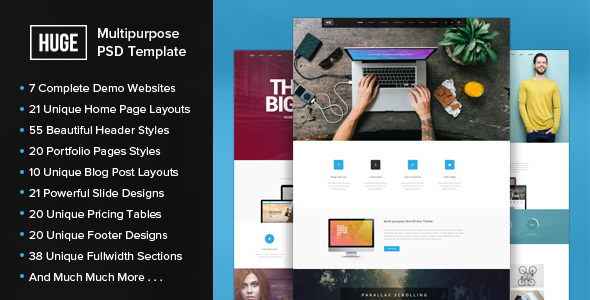 HUGE - Multipurpose PSD Template