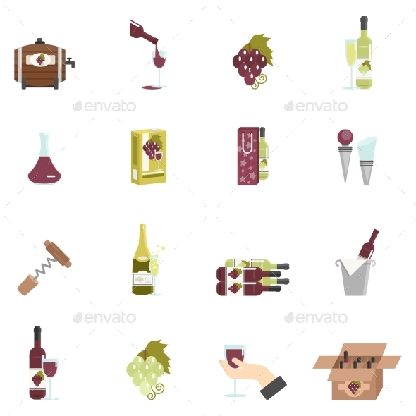 GraphicRiver Wine Icon Flat 11736376