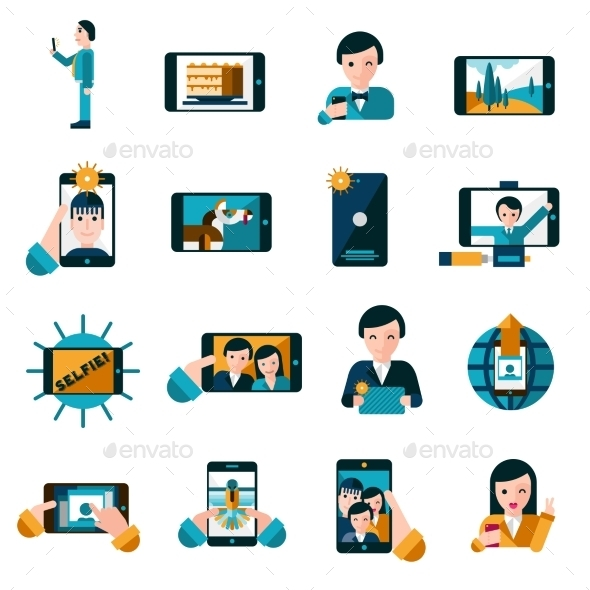 GraphicRiver Mobile Photo Icons Set 11736380