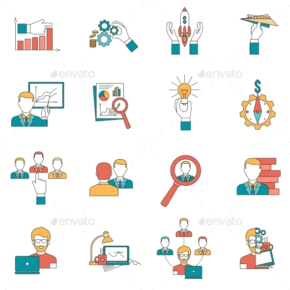 GraphicRiver Business Icons Set 11736394