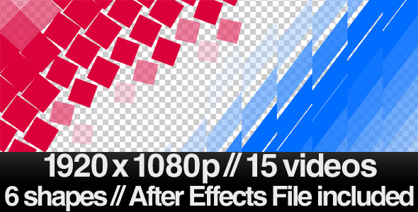 [VideoHive 144205] 15 Videos of Elegant Transition Overlays & AE File | Motion Graphics