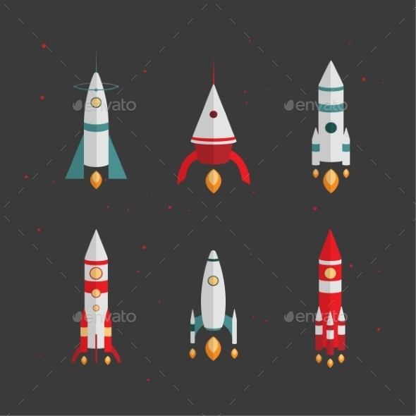 Types Of Rockets. Launching To Space