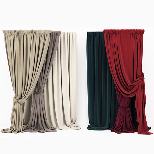 Curtain collection 07 - 3DOcean Item for Sale