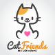 Cat Friends Logo - GraphicRiver Item for Sale