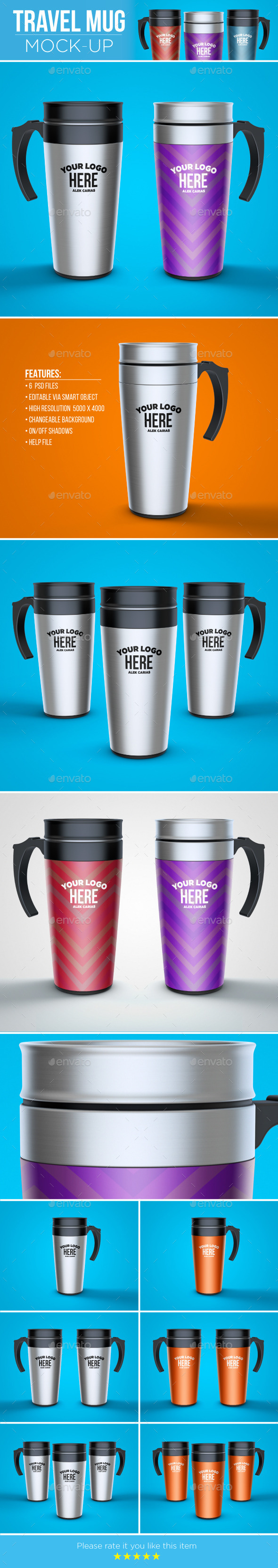 GraphicRiver Travel Mug Mock-Up 11738055