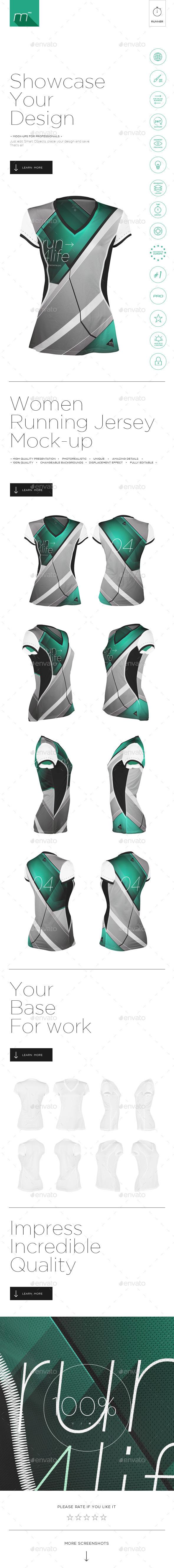 GraphicRiver Women Running V-Neck Jersey Mock-up 11738617