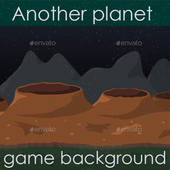 GraphicRiver Another Planet Game Background 11738698