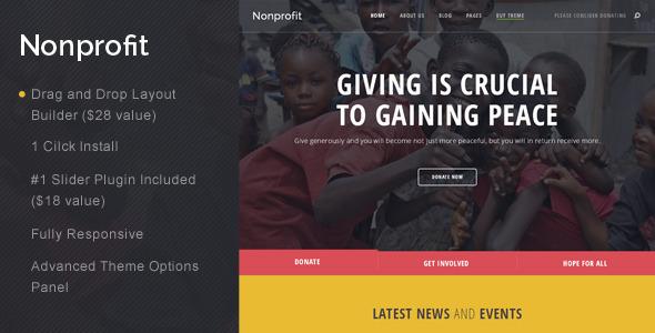 ThemeForest Nonprofit NGO and Charity WordPress Theme 11643234