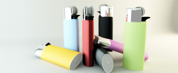 Colored lighters