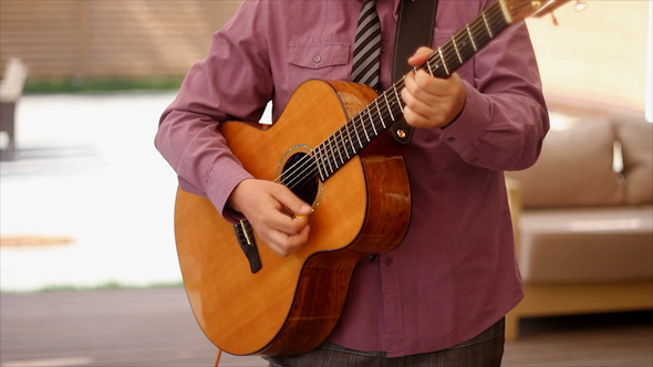 VideoHive Man Playing Acoustic Guitar 11612365