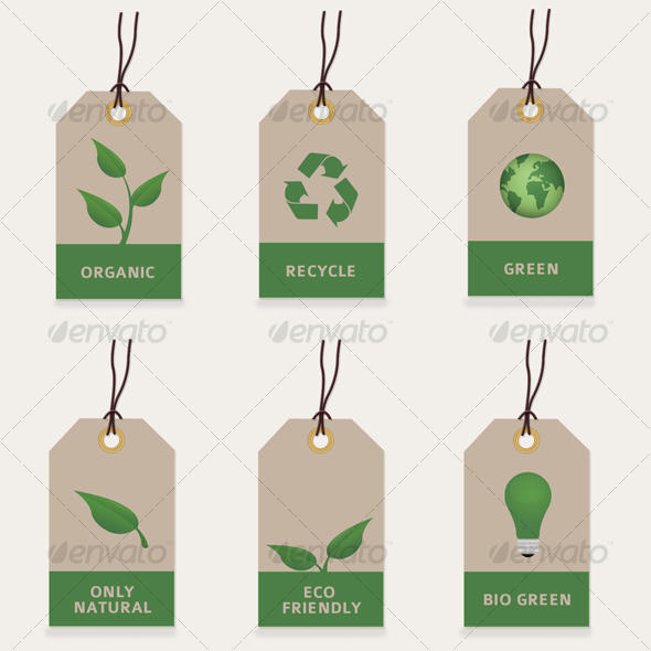 GraphicRiver Green Eco Friendly Tags 47712