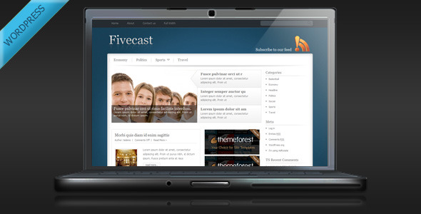 ThemeForest Fivecast Premium Magazine Wordpress Theme 80674