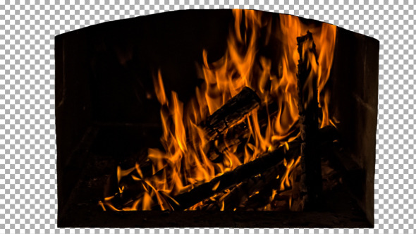 VideoHive Real Fireplace Isolated 1 11741592