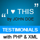 Testimonials Module with XML & PHP - ActiveDen Item for Sale