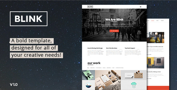 ThemeForest Blink Parallax One Page HTML Template 11672469