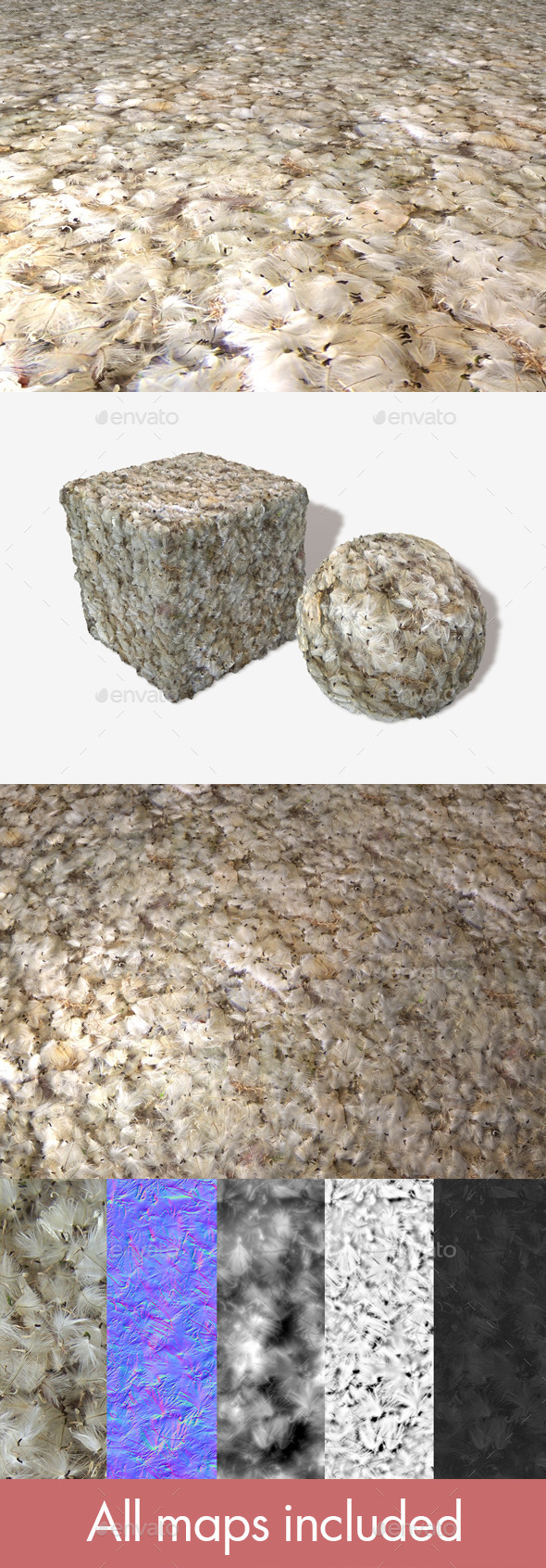 3DOcean Fluffy Seeds Seamless Texture 11749809