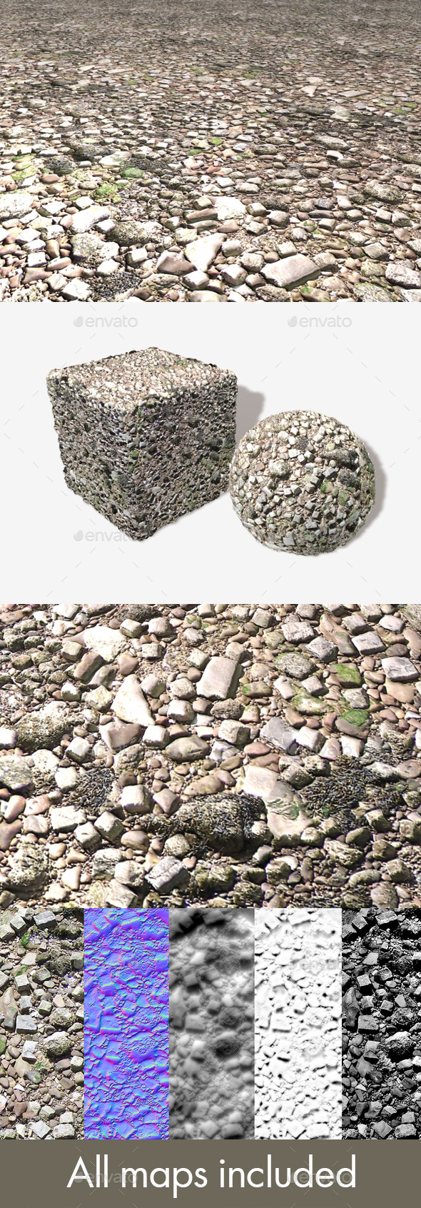 3DOcean Rubble Seamless Texture 11750365