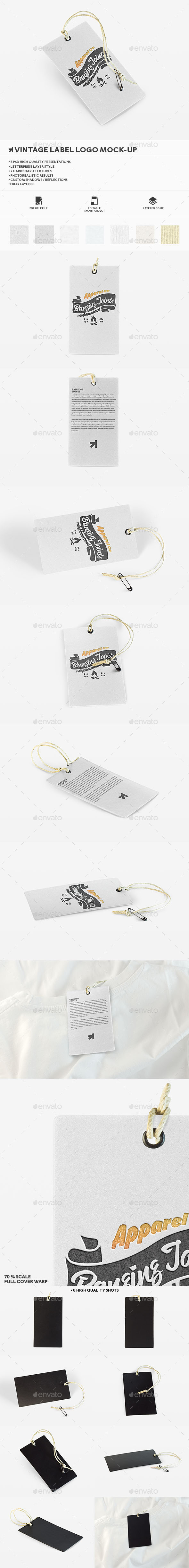 GraphicRiver Letterpress Label Logo Mockup 11750387