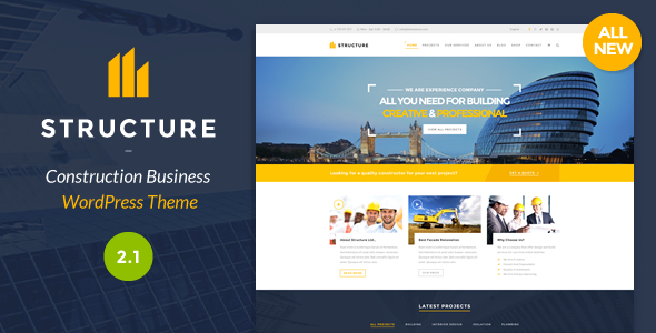 ThemeForest Structure Construction WordPress Theme 10798442