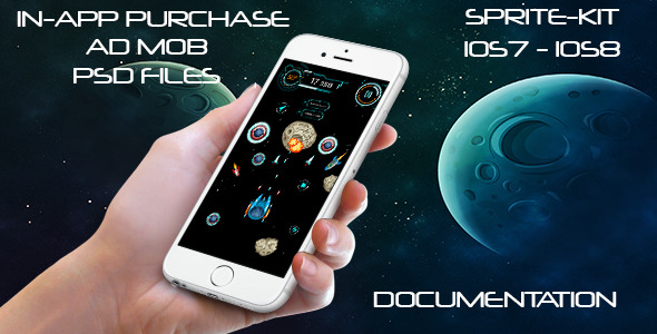 CodeCanyon Space Ultimate iOS Game Sprite Kit iOS7 iOS8 11751029