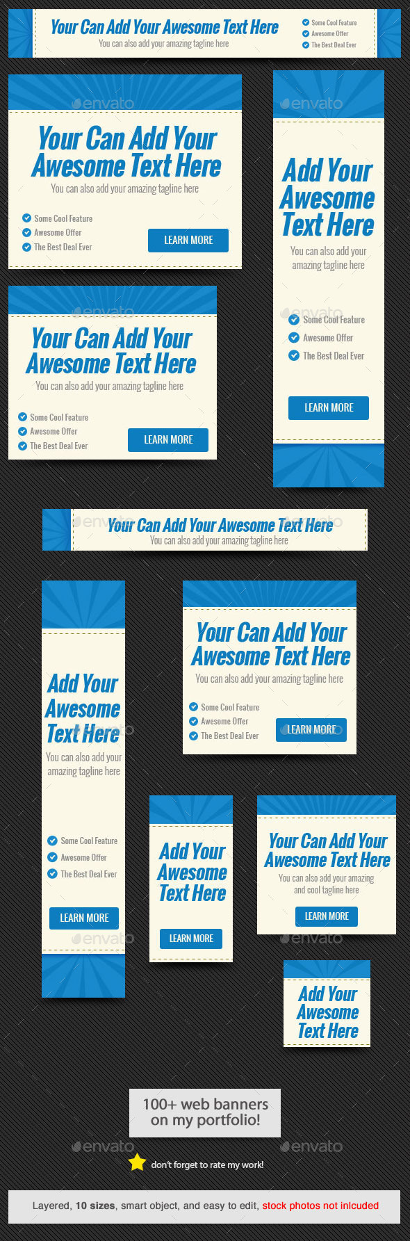 GraphicRiver Blue Rays Web Banner Template 11751648