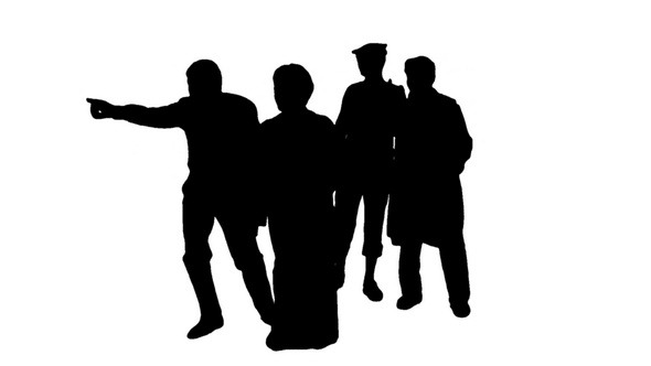 Silhouette of People Showing Different Directions