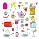 Meal and Ware Doodle Set - GraphicRiver Item for Sale
