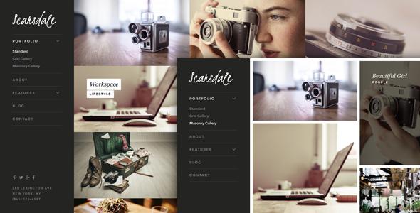 ThemeForest Scarsdale Responsive HTML5 Photography Portfolio 11629461