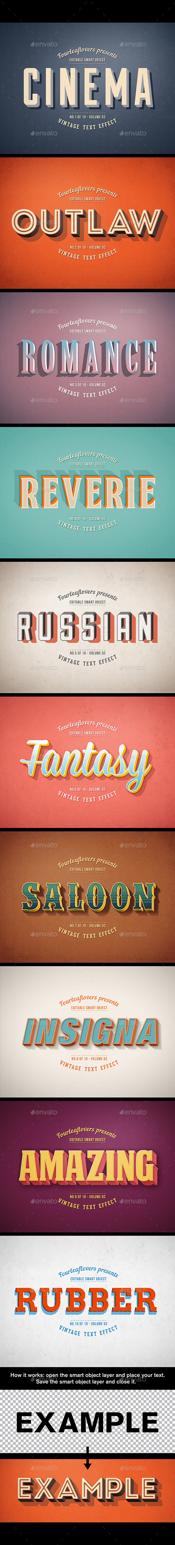 GraphicRiver Retro PSD Text Effects vol.2 11754168
